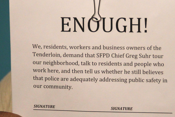 Bringing SFPD Chief Greg Suhr into a Tenderloin Community Meeting